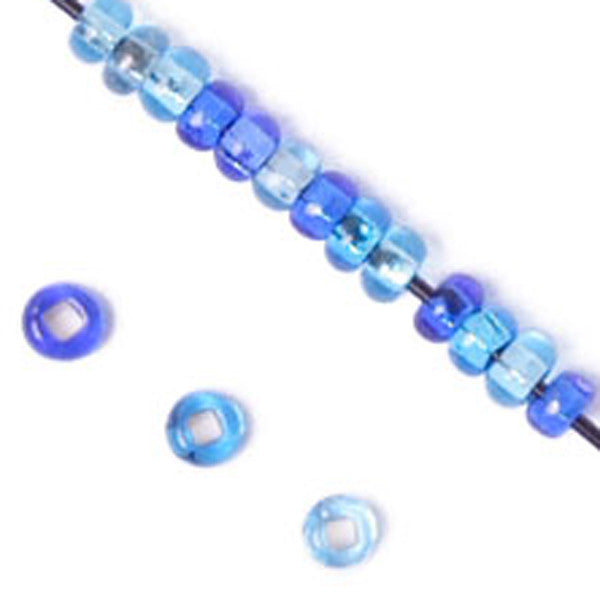 Image of 65002001 - Czech Seed Beads 40Gr Vials 10/0 S/L Aqua Mix