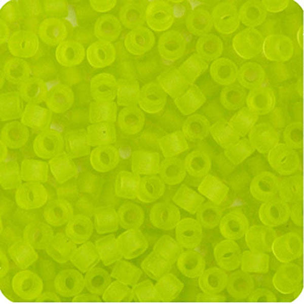 Image of 690DB00-0766V - Delica 11/0 RD Chartreuse Transparent