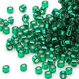 Image of 690DB00-0605V - Delica 11/0 RD Emerald Silver Lined-Dyed