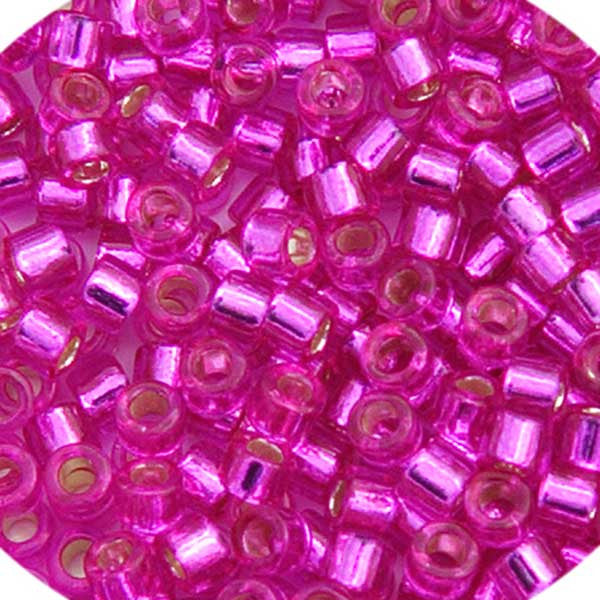 Image of 690DB00-1340V - Delica 11/0 RD Fuchsia Silver Lined Dyed