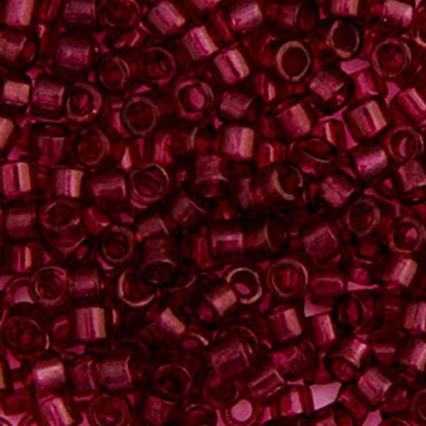Image of 690DB00-1312V - Delica 11/0 RD Red Wine Transparent Dyed