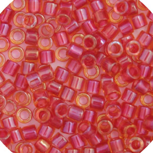 Image of 690DBL0-0062V - Delica 8/0 RD Light Cranberry AB Lined-Dyed