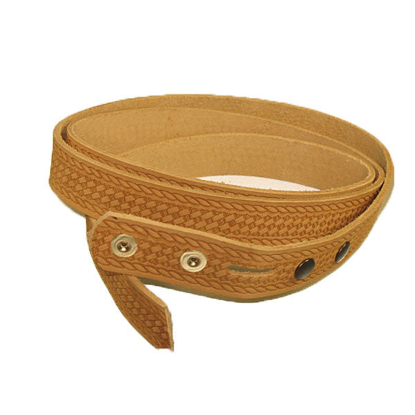 "1-1/2"" Embossed Basketweave Belt Blank 7-8 oz"