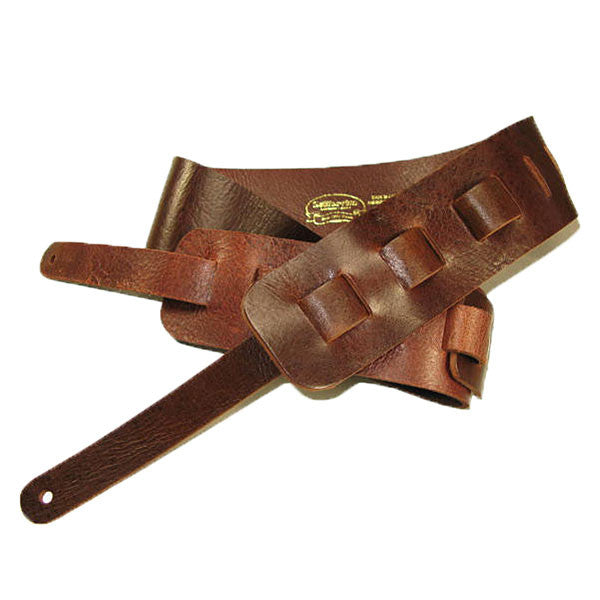Image of 44421-02 - Guitar Strap Full Grain Buffalo - Mahogany