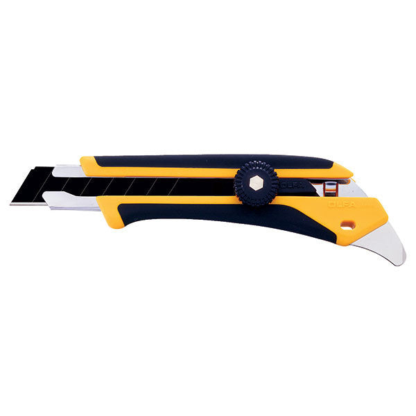 OLFA (L-5) HD Ratchet-Lock Utility Pry Knife w/Fiberglass Rubber Grip #1116110