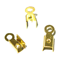 Image of 24011304 - Leather Crimps Medium Gold 100 pack