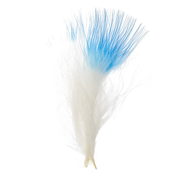 "Image of 78003002-10H - Marabou Feathers 4-6"" 6g White with Turquoise Tip"