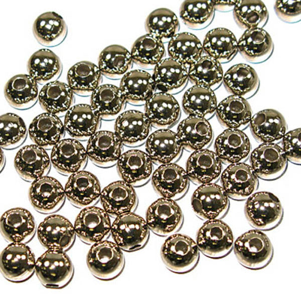 Metal Round Beads 8mm Nickel 100 pack