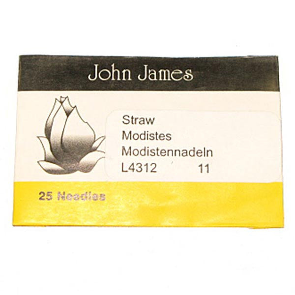 Milliners'/ Straw #11 Needles 25 Pack