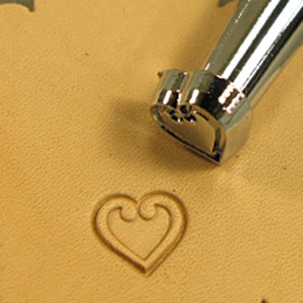 Image of O85 - O85 Heart Leather Stamp 68085-00