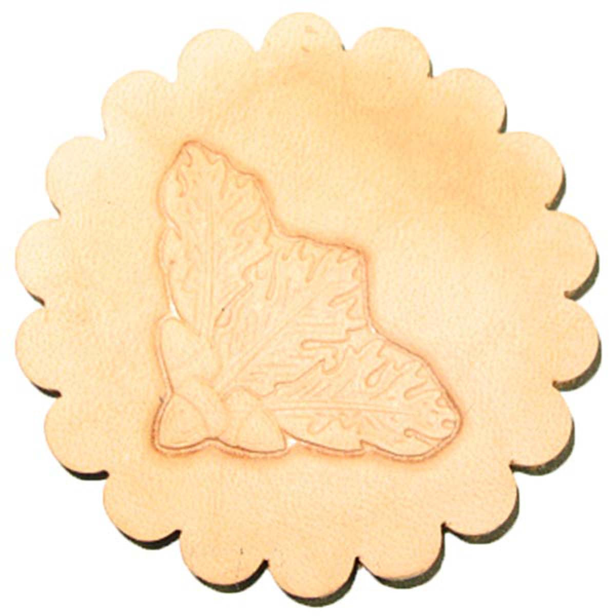 Image of 8536-00 - Oak Leaf Corner 3-D Stamp 8536-00