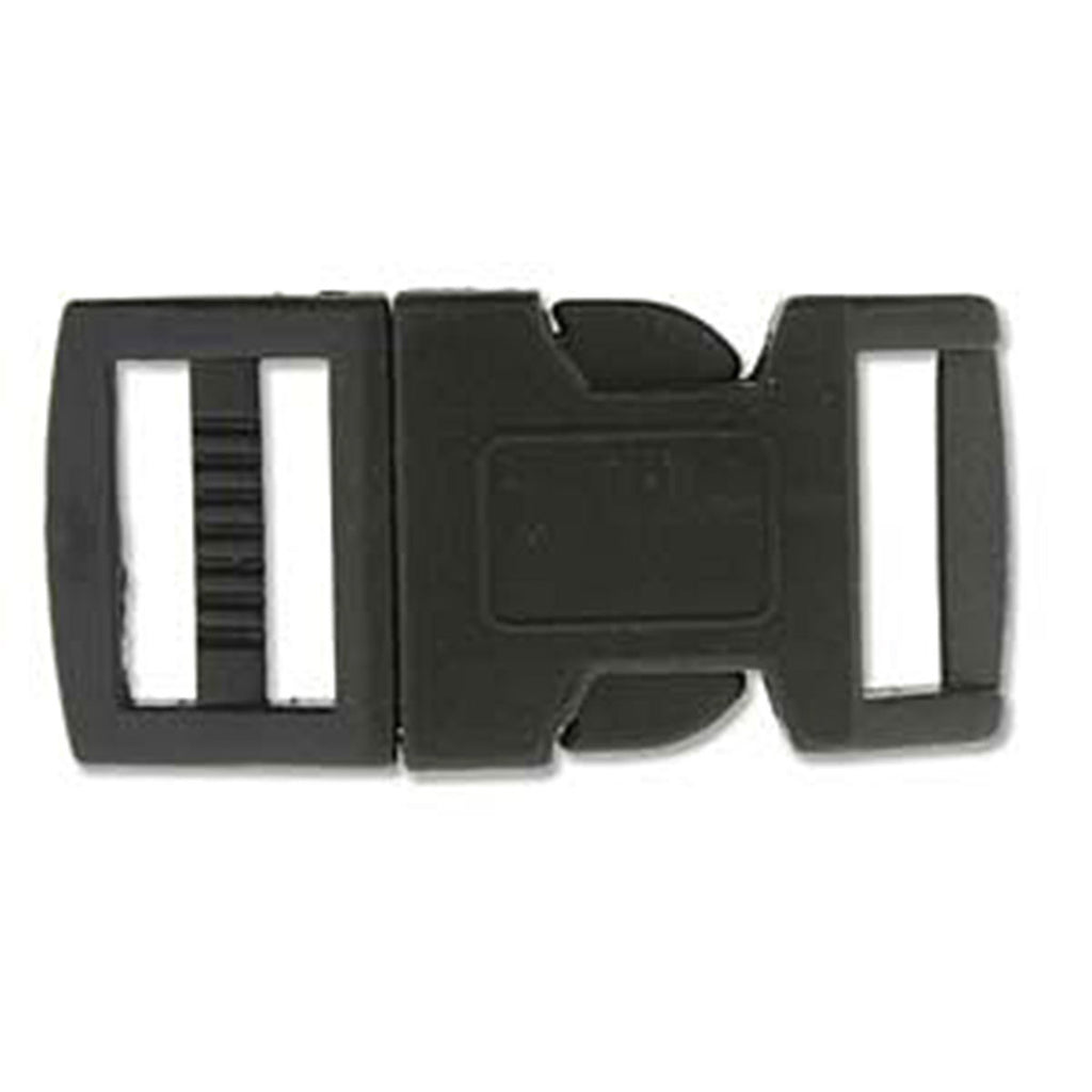 15mm Black Paracord Buckles 5 pack