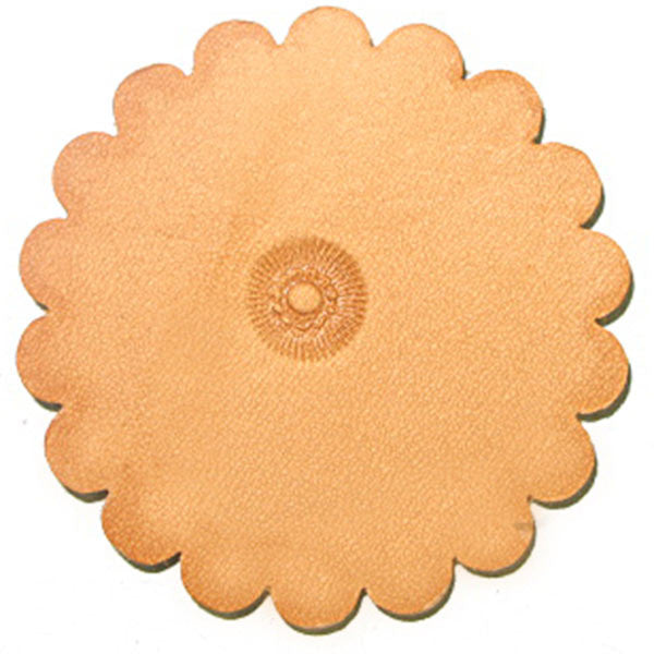 Image of PS008 - PS008 Flower Center Leathercraft Stamp