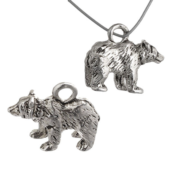 Image of 32634645 - Pendant Bear Antique Silver