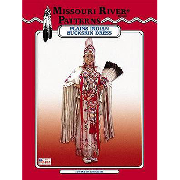 Image of 4799-500-013 - Plains Indian Buckskin Dress Pattern