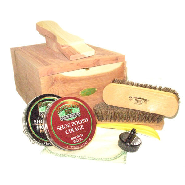 Image of 11-30120 - Premium Cedar Shoe Shine Valet