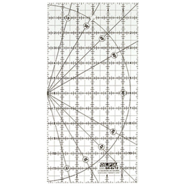 "Image of QR-6X12 - QR-6X12 6"" x 12"" Frosted Ruler"
