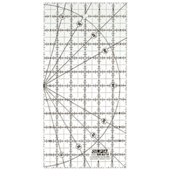 "OLFA (QR-6X12) 6"" x 12"" Frosted Ruler #1071819"