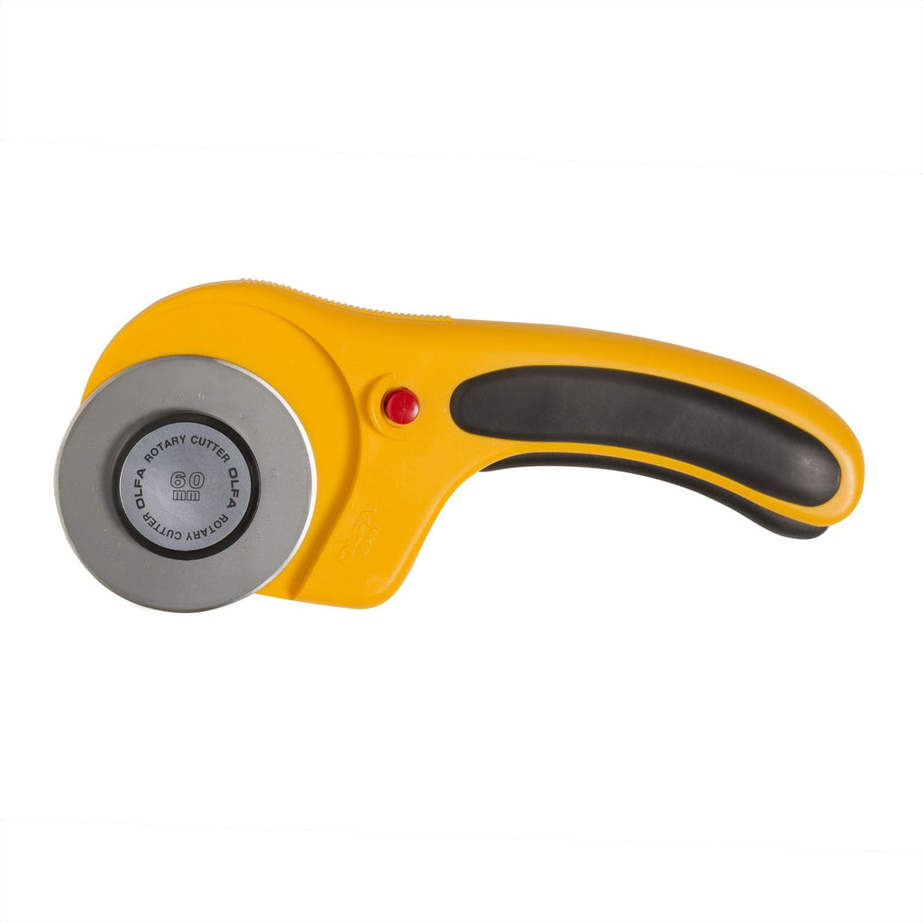 OLFA (RTY-3-DX) 60mm Deluxe Rotary Cutter w/ Blade Safety Lock #9655