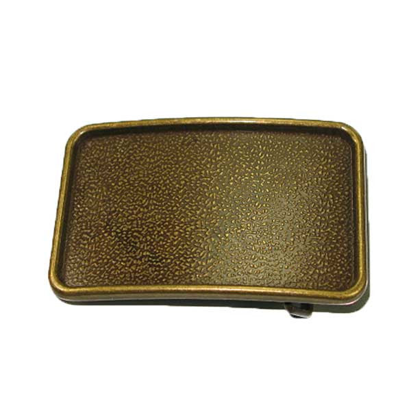 Image of 11738-00 - Ranchero Buckle Blank Antique Brass