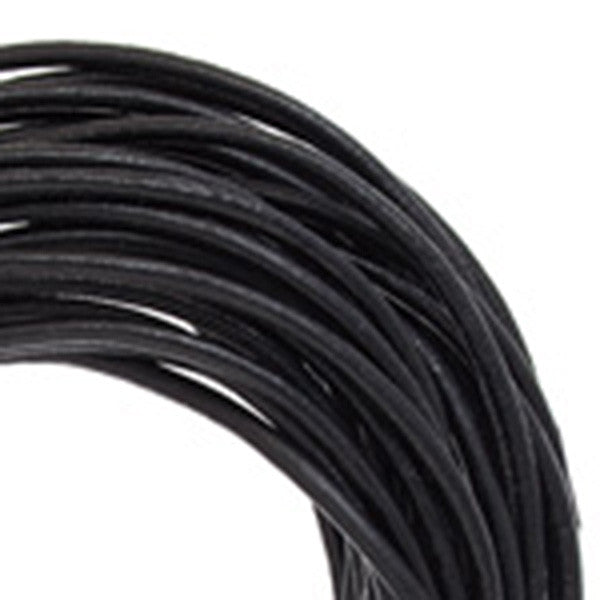 Image of 75129920-1 - 2mm Round Leather Cord Black - By The Yard