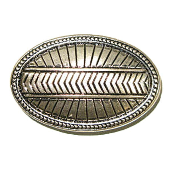 Image of 1721-19 - Sedona Lean Oval Concho - Rivet Back