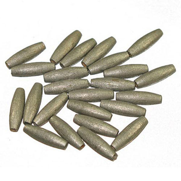 Image of 28615212-98 - Silver Oval Wood Bead 20 x 6mm - 100 Pack