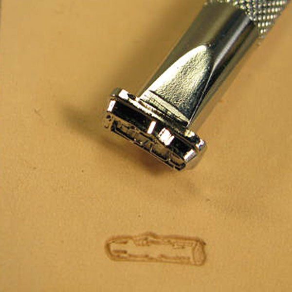 Image of F116 - Small Log 2-D Leather Stamp F116
