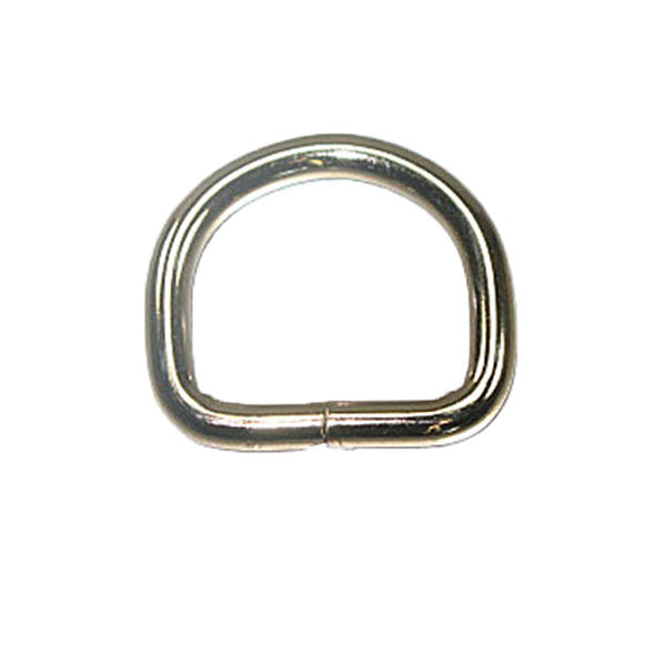"Solid Dee 3/4"" (1.9 cm) Nickel Plated 10/pk"