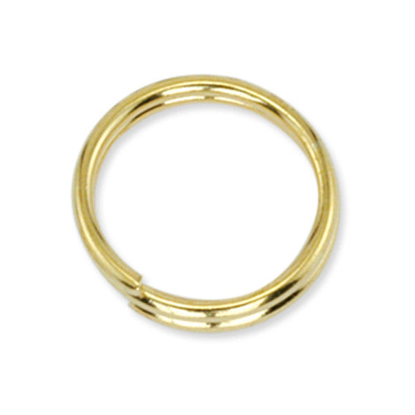 Split Rings 8 mm (.315 in) Gold Color - 15 Pieces