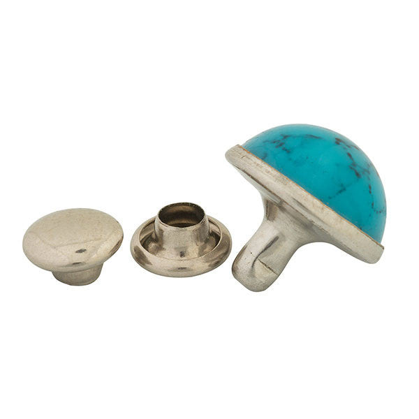 Image of 97-0222010 - Synthetic Turquoise Rivets, 10 mm