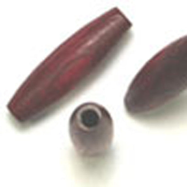 Wine Oval Wood Bead 20 X 6mm