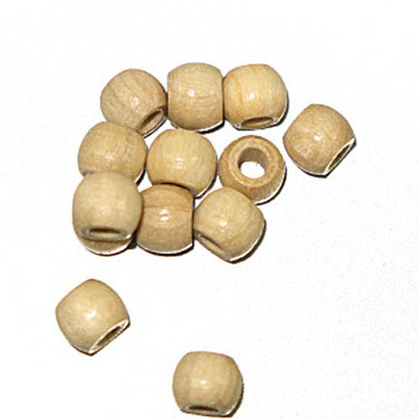 Image of 28615238 - Wood Crowbeads 6/4.5mm 2.7 Hole - Natural 11 grams