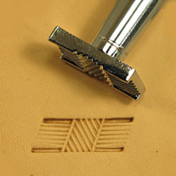 Image of X498 - X498 Basketweave Leather Stamp 6498-00