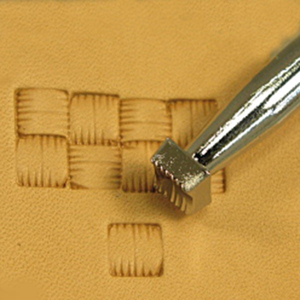 X506 Basketweave Leather Stamp