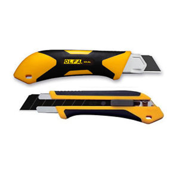 Image of XH-AL - XH-AL 25mm Extra Heavy-Duty Fiberglass Rubber Grip Utility Knife