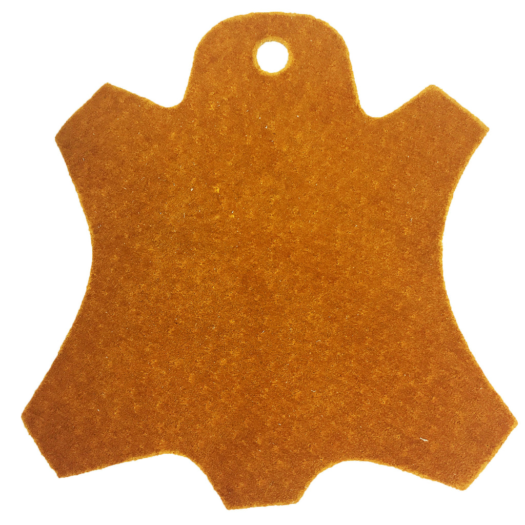 Premium Garment Grade Pig Suede Leather Hide 0.5mm Avg 7-9 sqft - Mustard