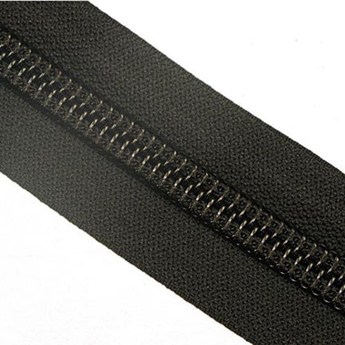 #10C YKK Nylon Zipper Tape Black - By The Yard