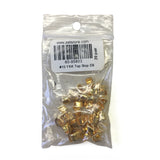 #10 YKK Top Stop Solid Brass 20 pairs