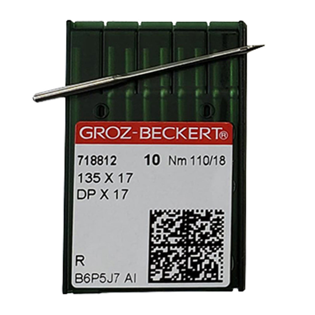 135x17 Walking Foot Industrial Sewing Needles Size 110/18 10 Pack Groz-Beckert