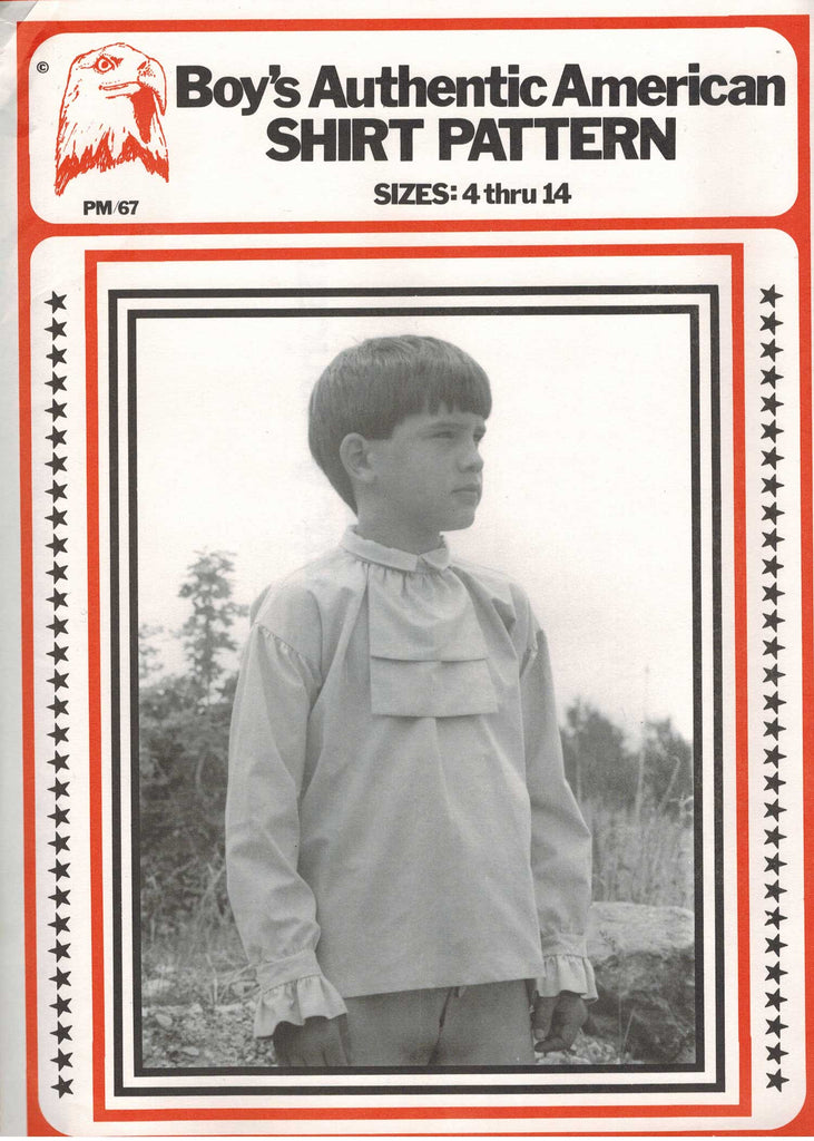 Boy's Authentic American Shirt Pattern