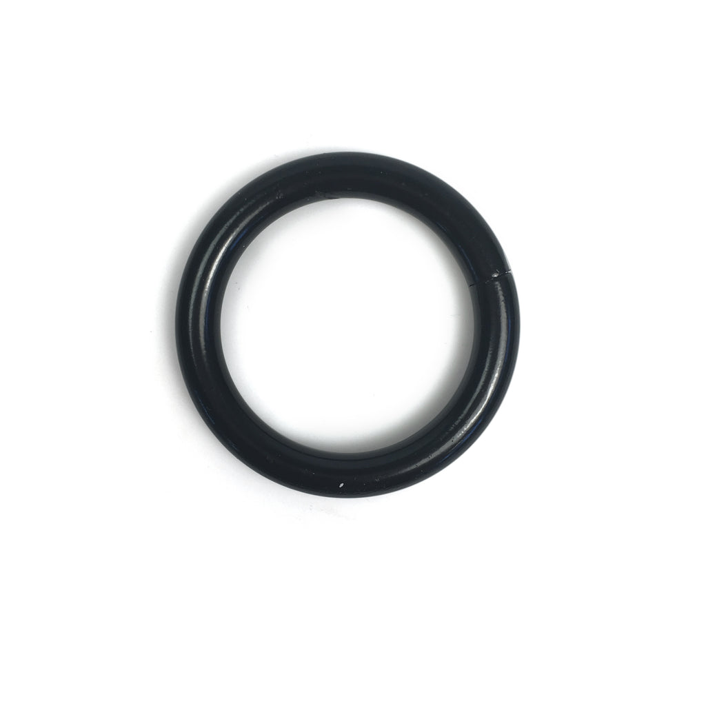 "1-1/4"" Black 5mm O-Ring Welded - 10 Pack"