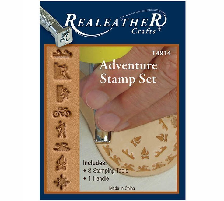 Realeather Crafts Leathercraft Adventure Time Stamp Set T4914 8 Stamps