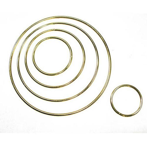 Metal Hoop Brass Plated  - 13 Sizes