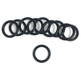 "1"" Welded O-Ring Black Plated 4.5mm Thick O Rings Leather Craft Hardware 10 Pack"