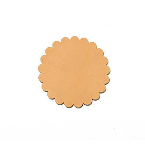 Genuine Vegetable Tanned Leather Conchos 6Pk - 3 Sizes