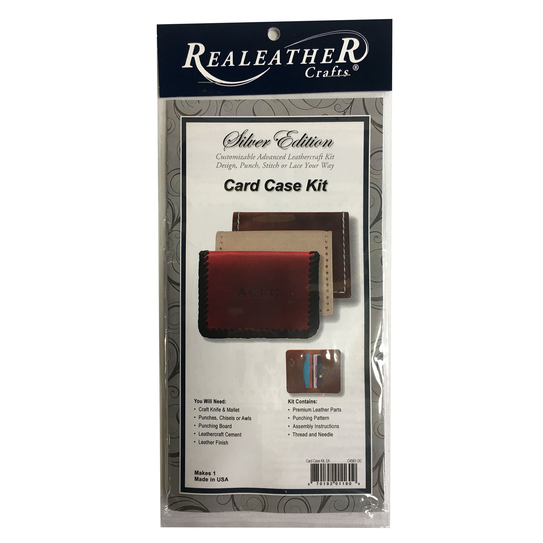 Realeather Silver Edition Card Case Kit Leathercraft Leather Wallet Kit