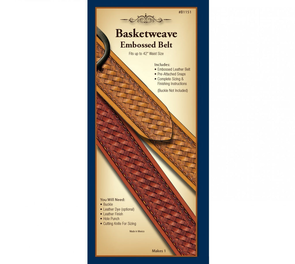 Realeather Basketweave Embossed Belt