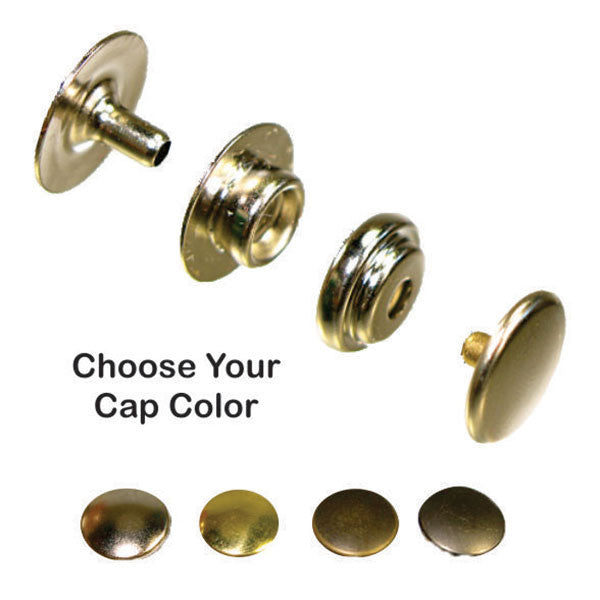 Line 20 Snaps Solid Brass - 4 Cap Colors