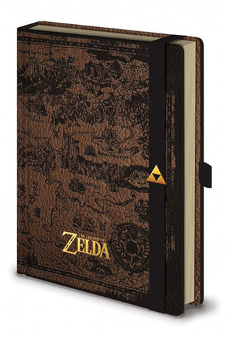 The Legend of Zelda: Hyrule Map Premium A5 Notebook